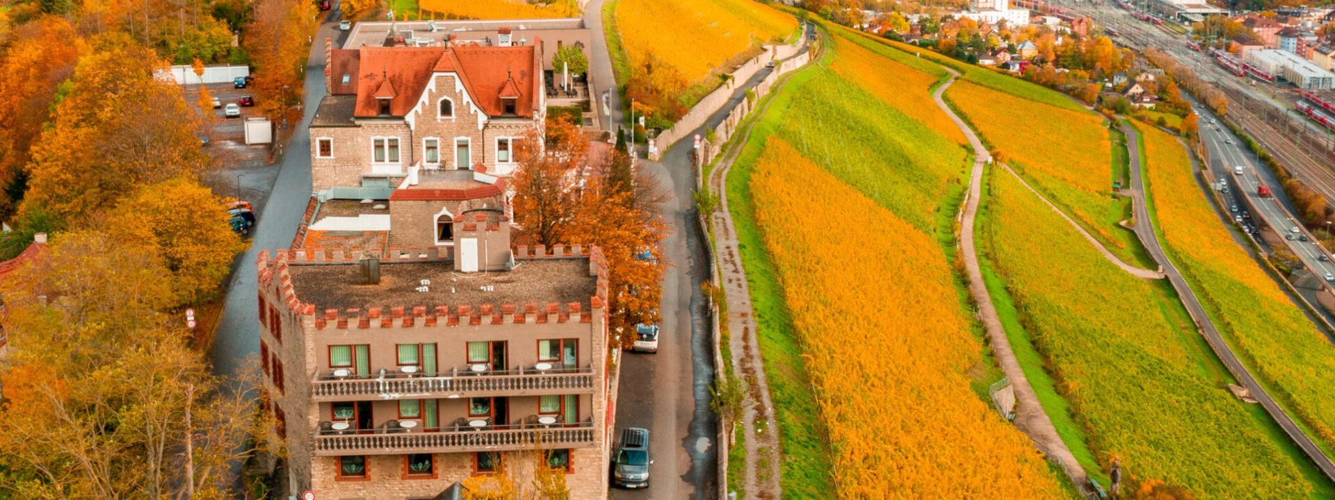 Schloss Steinburg Weinberge Herbst ©Xtrakt Media