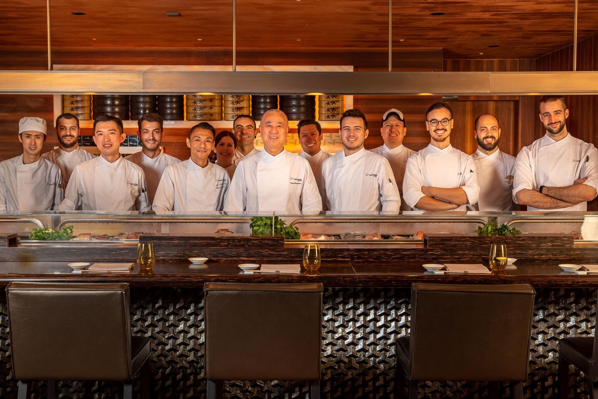 Mandarin Oriental Munich Matsuhisa-Restaurantteam mit Chefkoch Nobu Matsuhisas