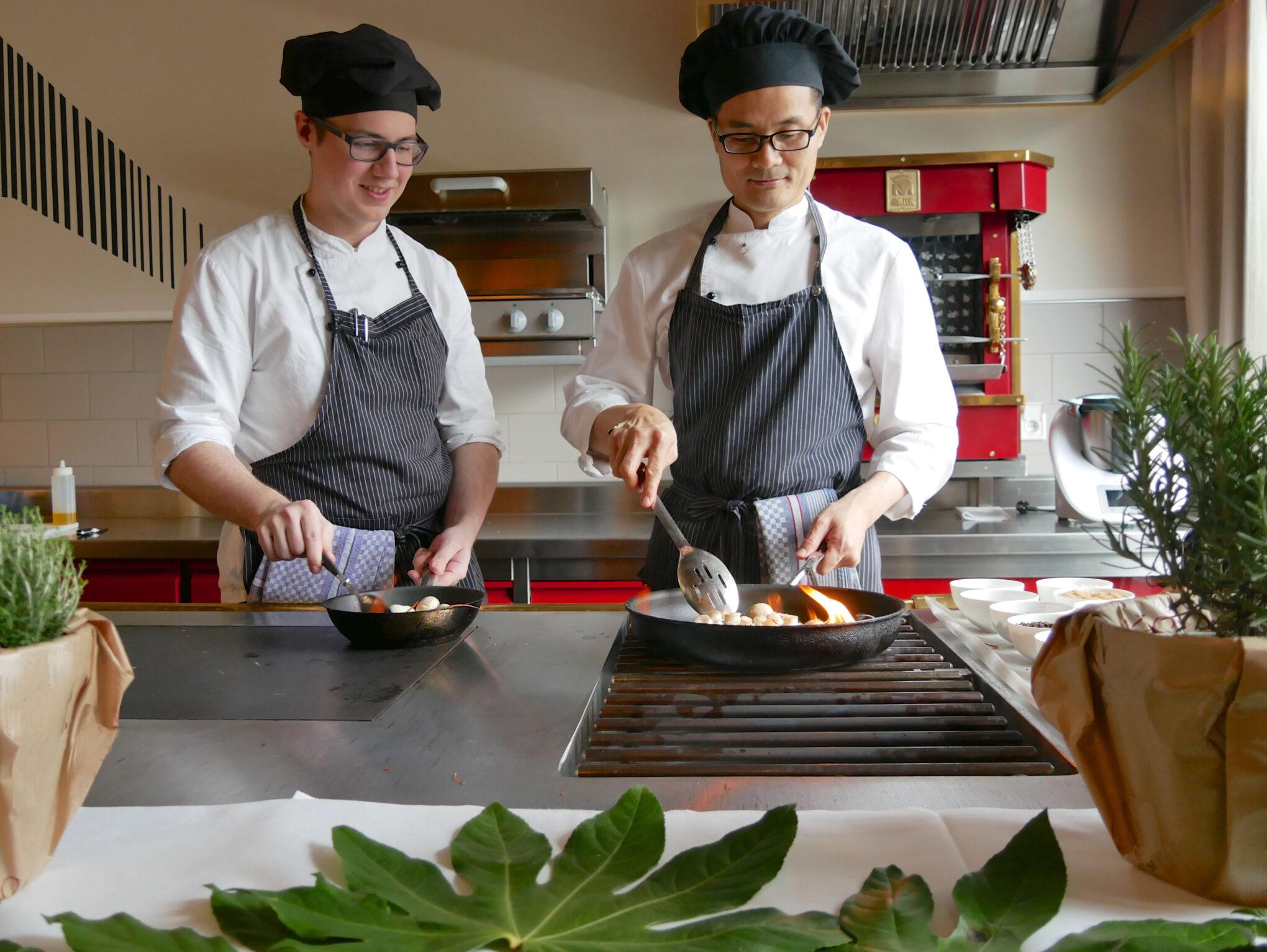 Breidenbacher Hof Mitarbeiter in der Küche