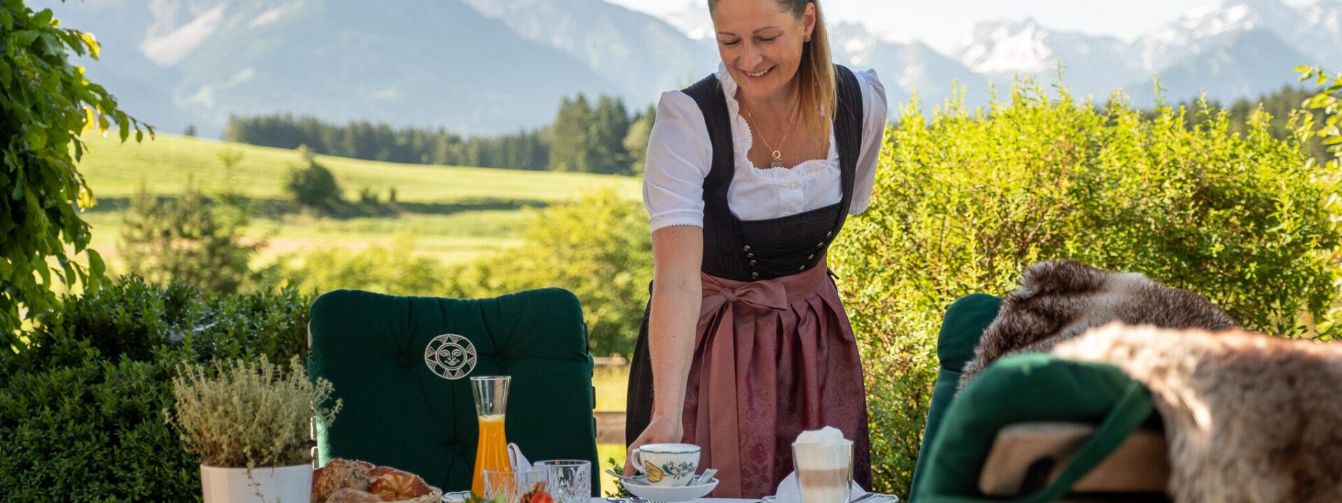 Sonnenalp Resort Frühstück Service