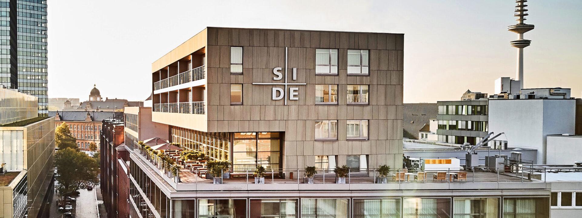 SIDE Hotel Hamburg Außenansicht